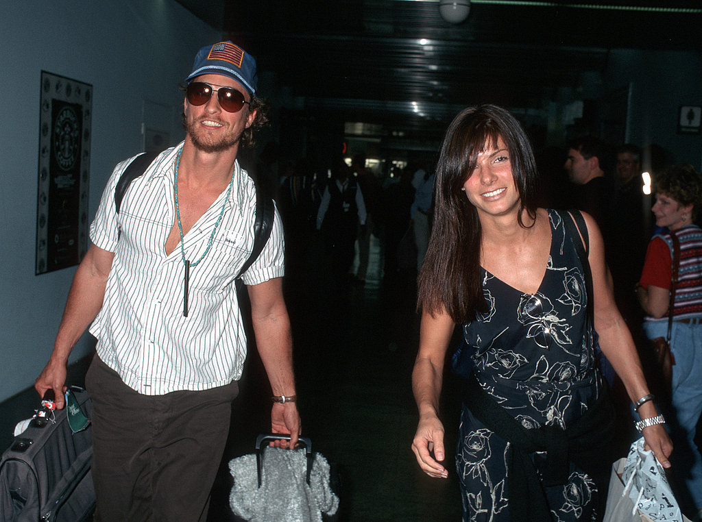 In September 1996, Matthew McConaughey and Sandra Bullock were snapped at LAX.