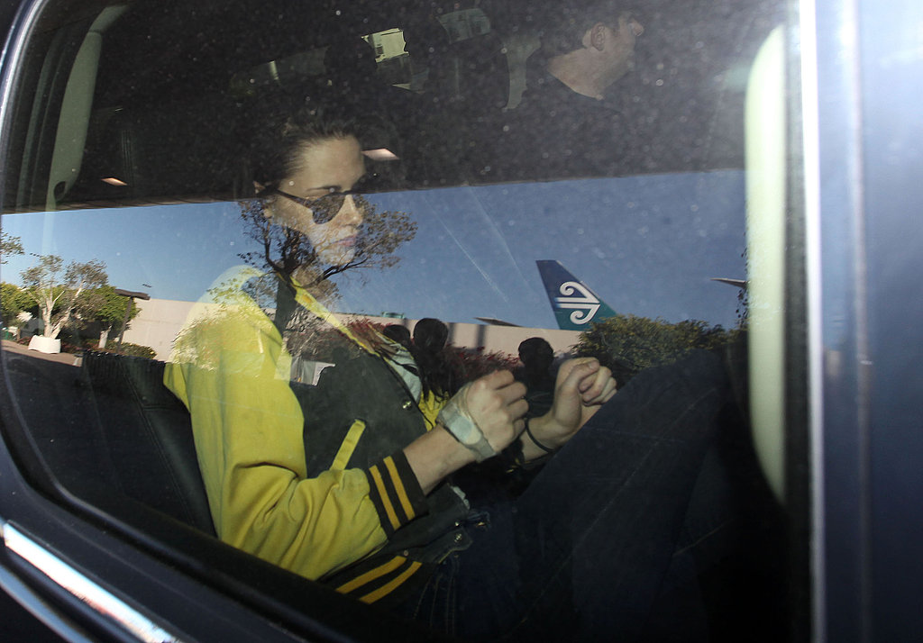 Kristen Stewart was picked up at LAX.