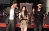 Kristen Stewart, Robert Pattinson, and Taylor Lautner had cement on their hands.