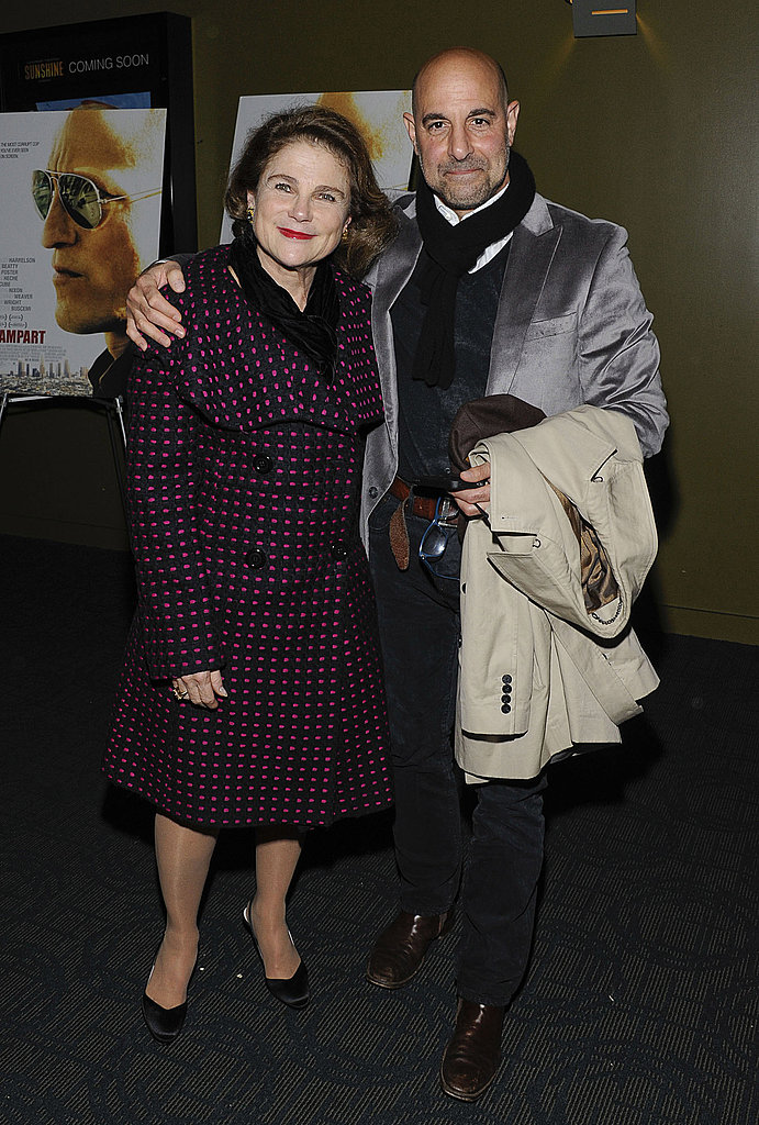 Stanley Tucci and Tovah Feldshuh promoted Rampart in NYC.