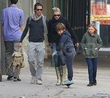 Mia Threapleton and Joe Mendes took a stroll with their mom, Kate Winslet, and Ned Rocknroll.