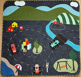 Felt Play Mat - Little City, Big Country