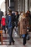Sienna Miller and Tom Sturridge held hands while touring Venice.
