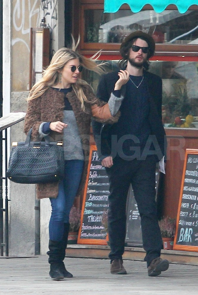 Sienna Miller and Tom Sturridge walked and talked in Venice.