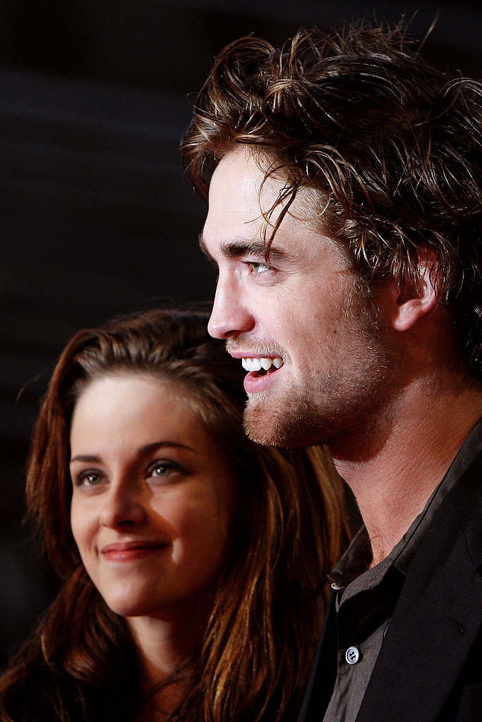 Robert Pattinson and Kristen Stewart did press together at the October 2008 Twilight premiere in Rome.