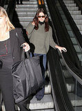 Ashley Greene rode an escalator in LAX.