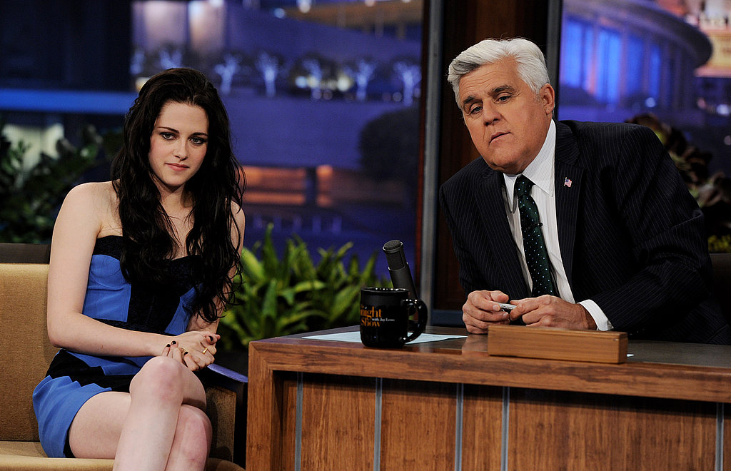 Jay Leno and Kristen Stewart on The Tonight Show.