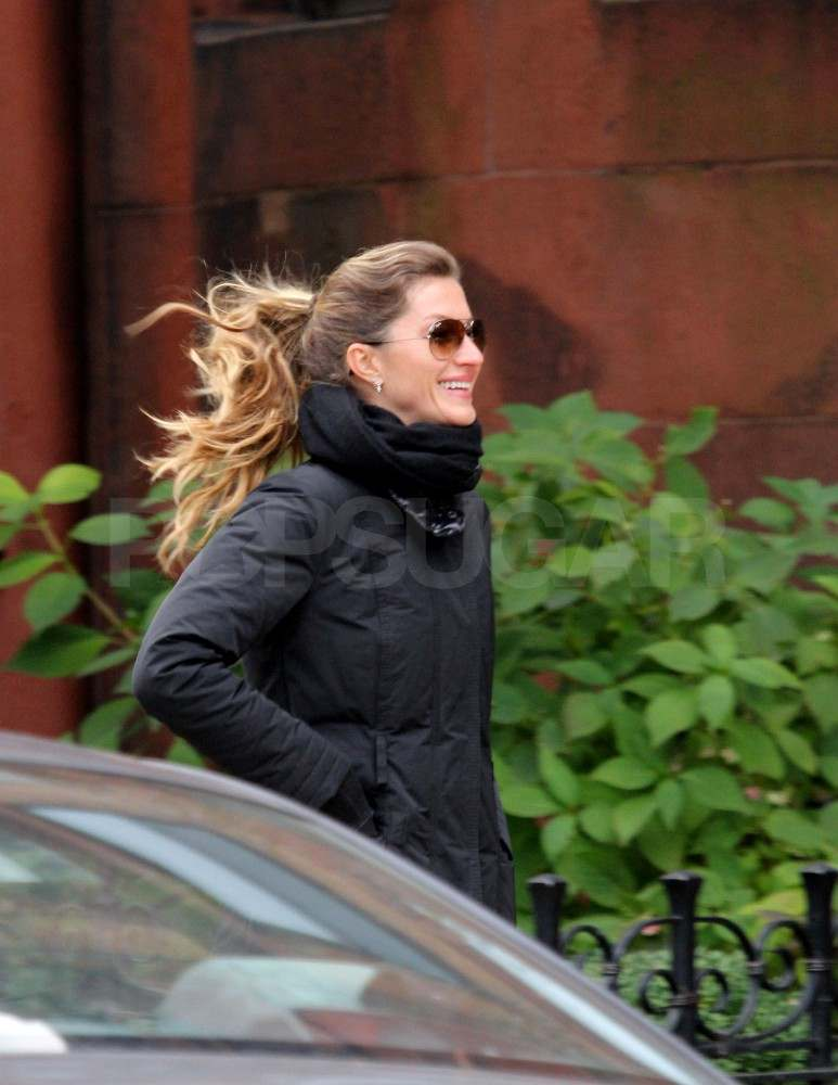 Gisele Bundchen on her way to the gym in Boston.