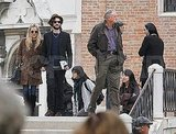 Sienna Miller and Tom Sturridge made their way to St. Peter's Square.