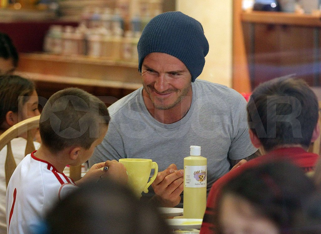 David Beckham smiled at Cruz's creativity.