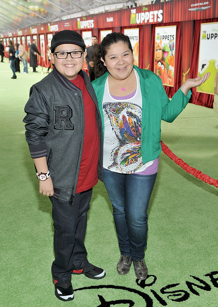 Siblings Rico and Raini Rodriguez hit the carpet together.