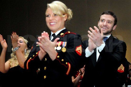 "Justin Timberlake Writes About His ""Moving"" Night at the Marine Corps Ball With ""Hero"" Kelsey!"