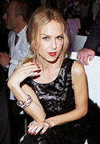 Rachel Zoe's lip color matched her nails.