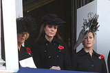 Camilla Parker Bowles, Kate Middleton, and Sophie Rhys-Jones watched the Remembrance Sunday proceedings in Whitehall.