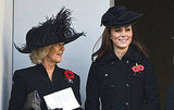 Camilla Parker Bowles and Kate Middleton both honored those who have died while serving their country.