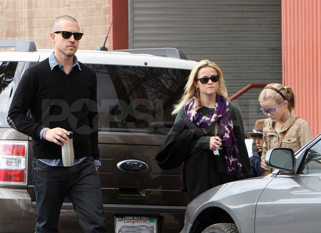Reese Witherspoon and Jim Toth with Ava and Deacon in LA.