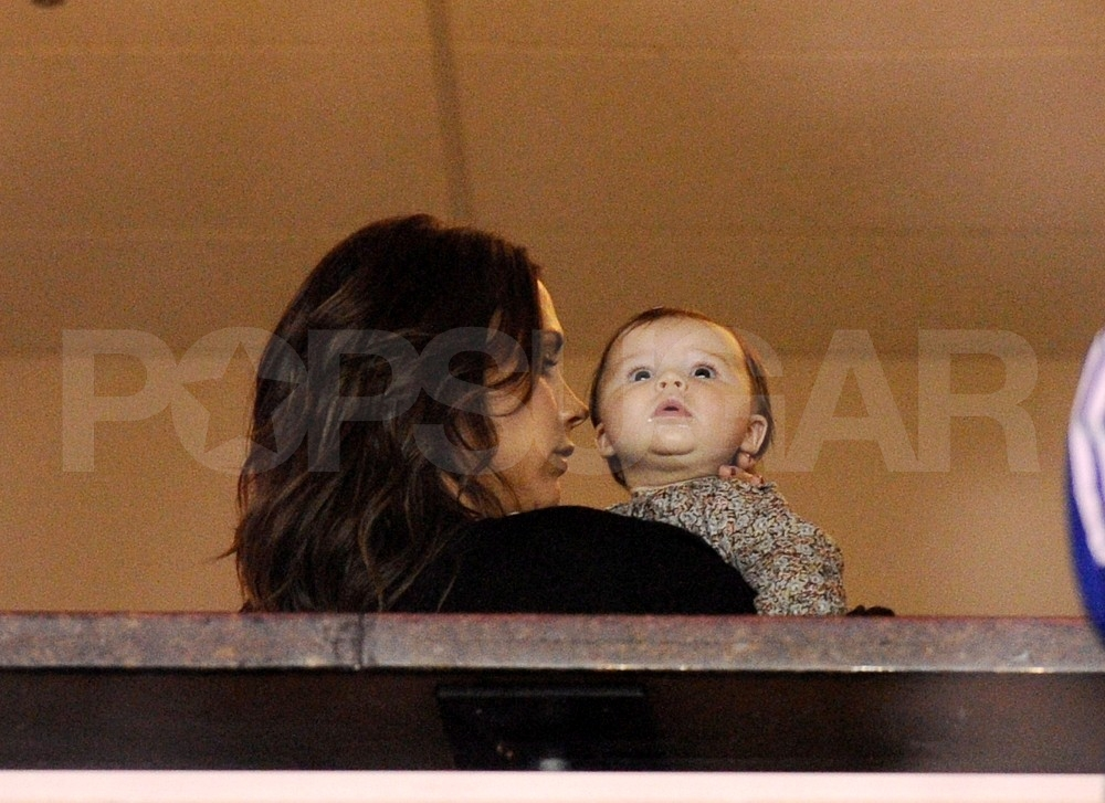 Victoria Beckham held onto adorable baby Harper in LA.