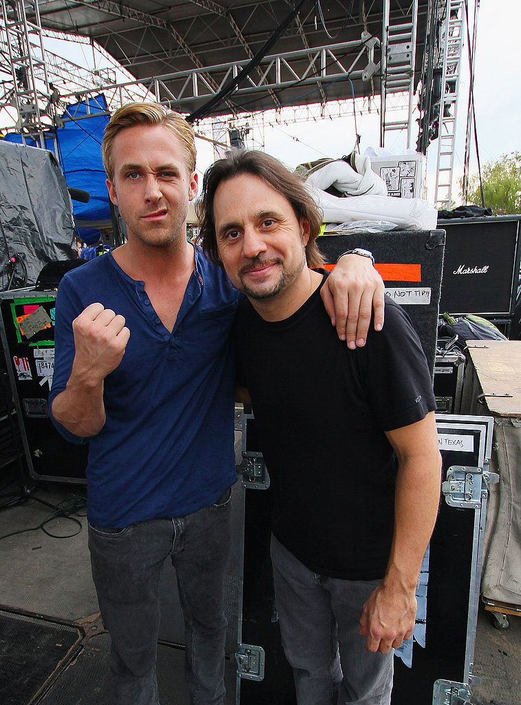 Ryan Gosling fist-pumped at Fun Fun Fun Fest.
