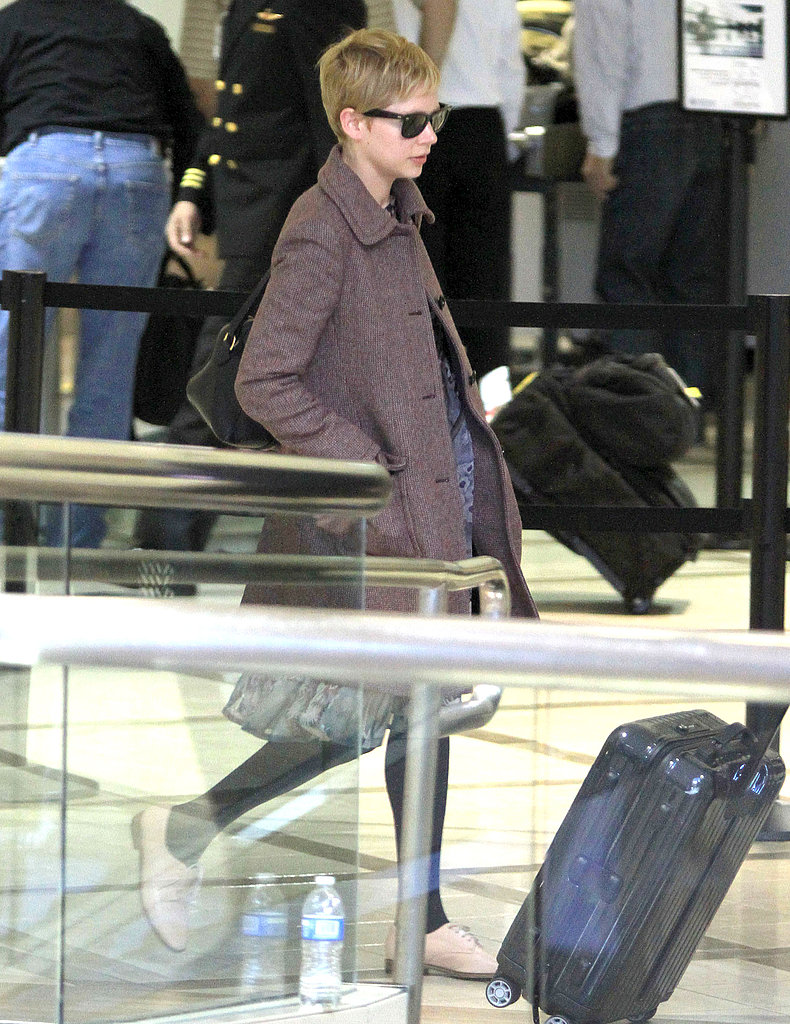 Michelle Williams landed at LAX.
