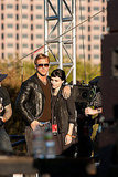 Ryan Gosling kept costar Rooney Mara close on set.