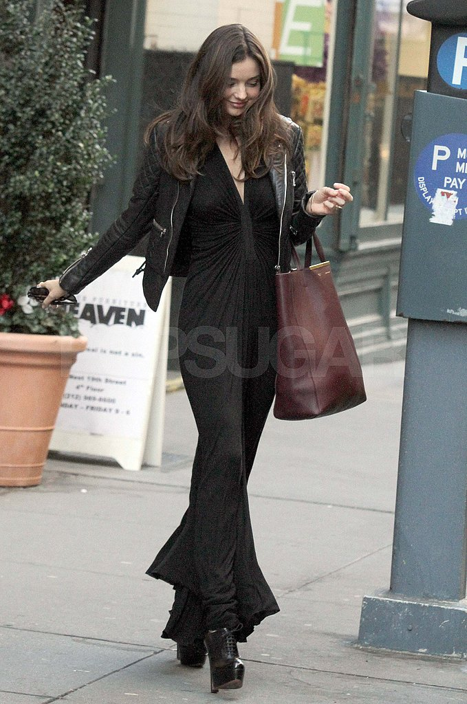 Miranda Kerr with a Celine bag.