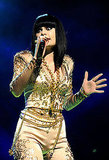 Jessie J wore gold.