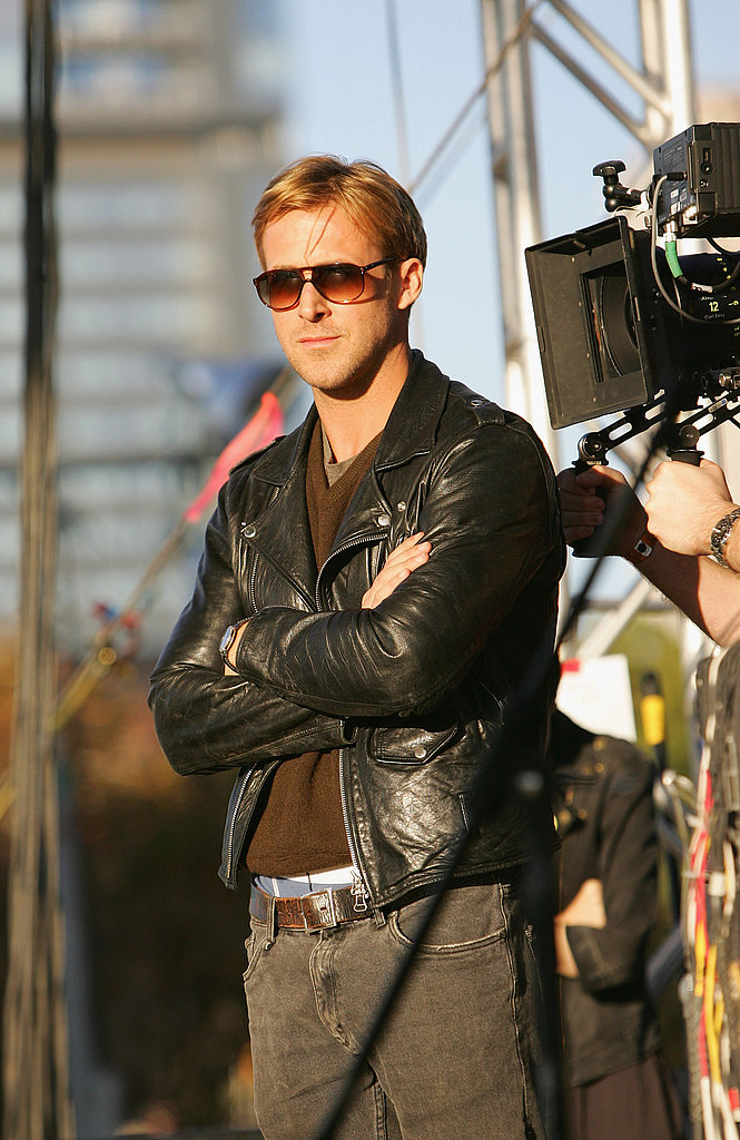 Ryan Gosling was cool and laid-back in leather at Fun Fun Fun Fest.