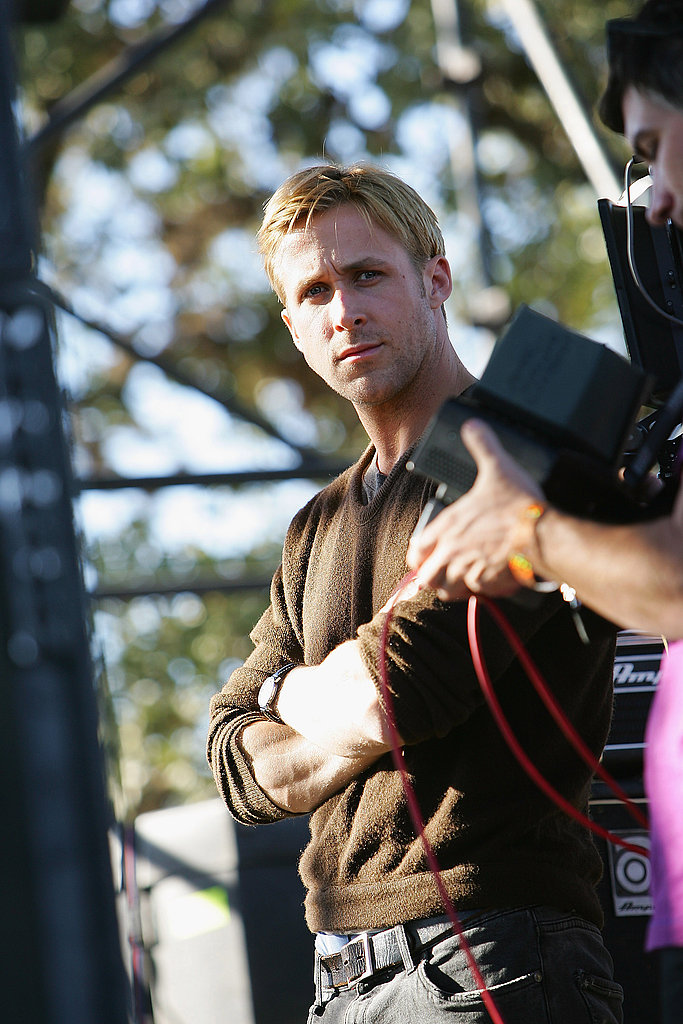 Ryan Gosling waited for his cue while filming Lawless in Austin, TX.