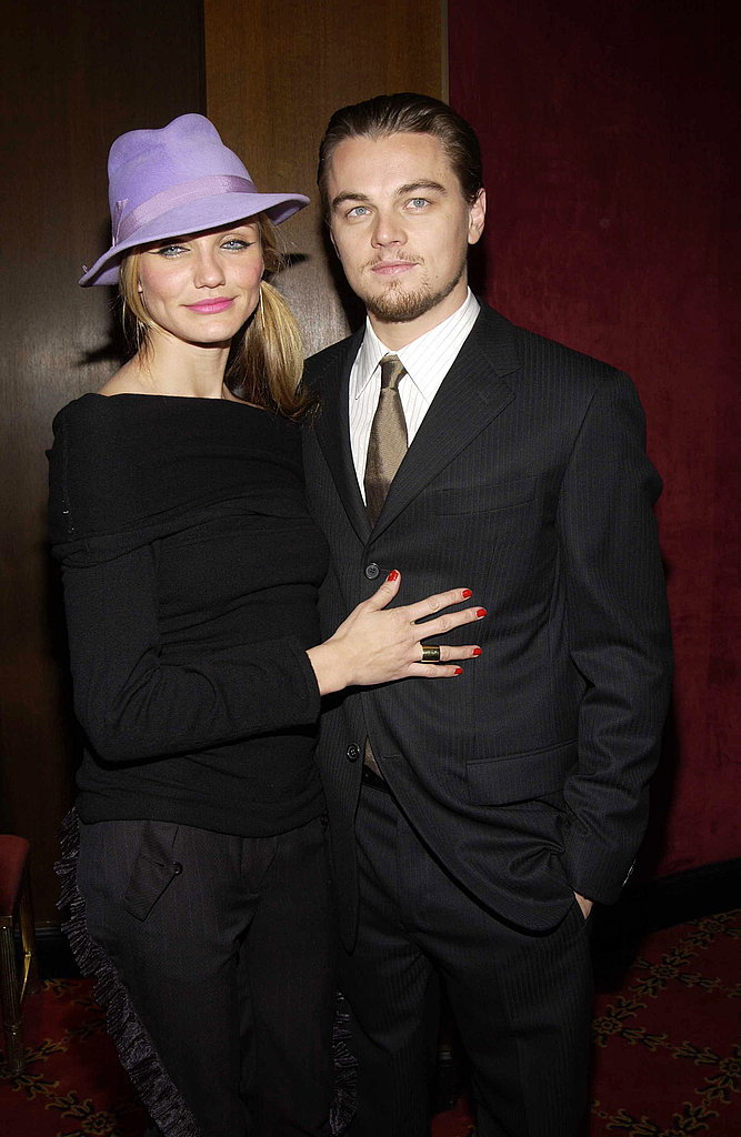 In December 2002, Cameron Diaz and Leonardo DiCaprio got cozy at the Gangs of New York premiere.