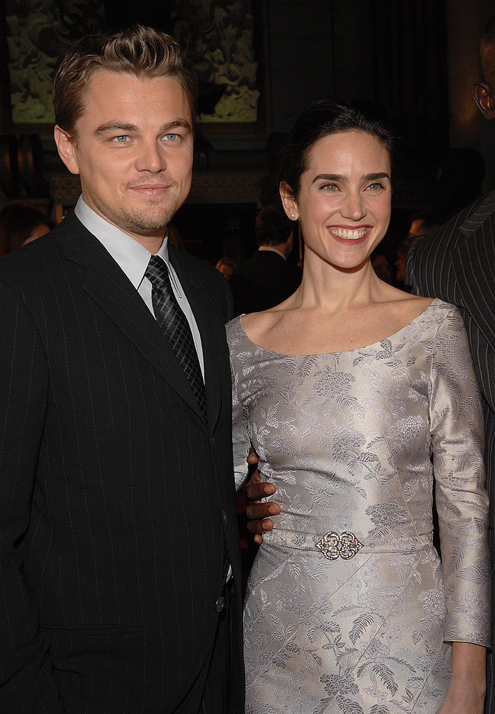 Leonardo DiCaprio and his Blood Diamond costar Jennifer Connelly smiled together on the red carpet at the movie's premiere in December 2006.