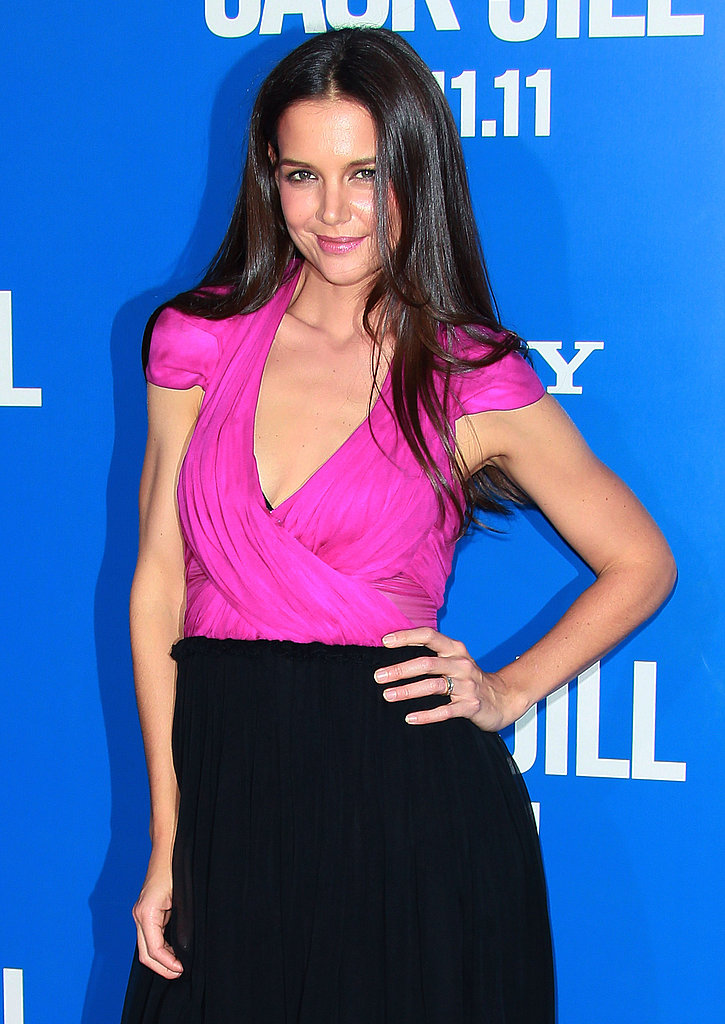 Katie Holmes worked it for the camera at the LA premiere of Jack and Jill.