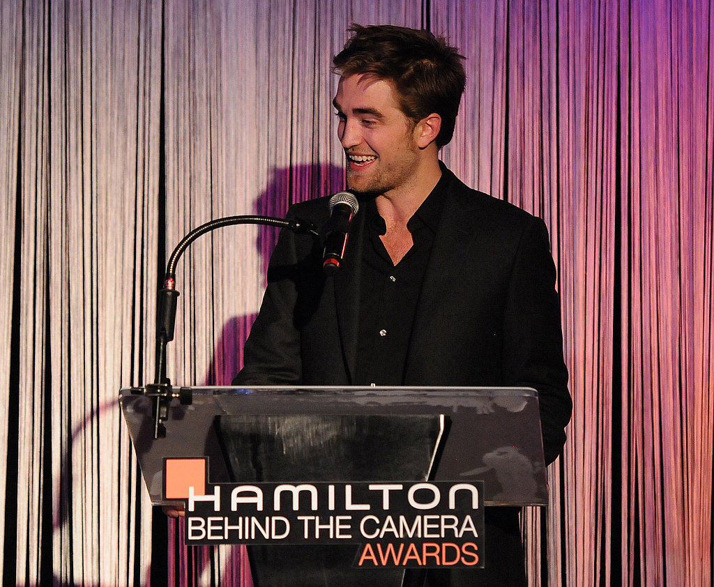 Robert Pattinson spoke to an audience at the Conga Room in LA.