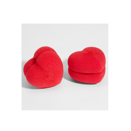 Heart Hair Sponge Rollers, approx $9.70