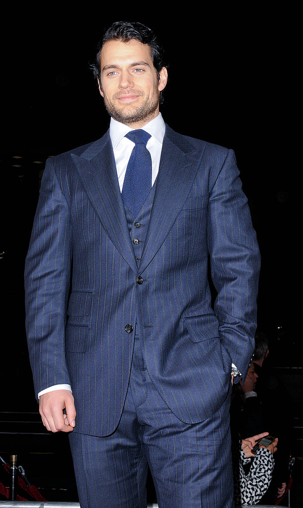 Henry Cavill arrived at the Nokia Theater in LA.