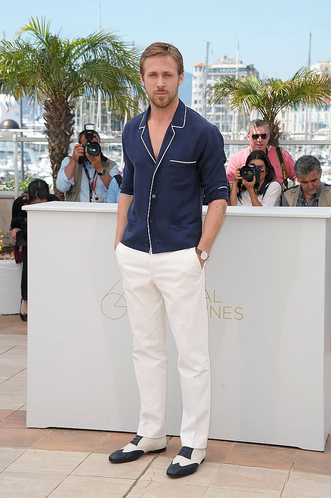 We couldn't help but picture Ryan in his jammies when he wore this pajama-inspired ensemble to a Drive photocall at the Cannes Film Festival in 2011.