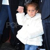 Emme Muñiz sported a furry jacket for the Fall weather in NYC.