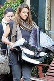 Jessica Alba and baby Haven out in NYC.