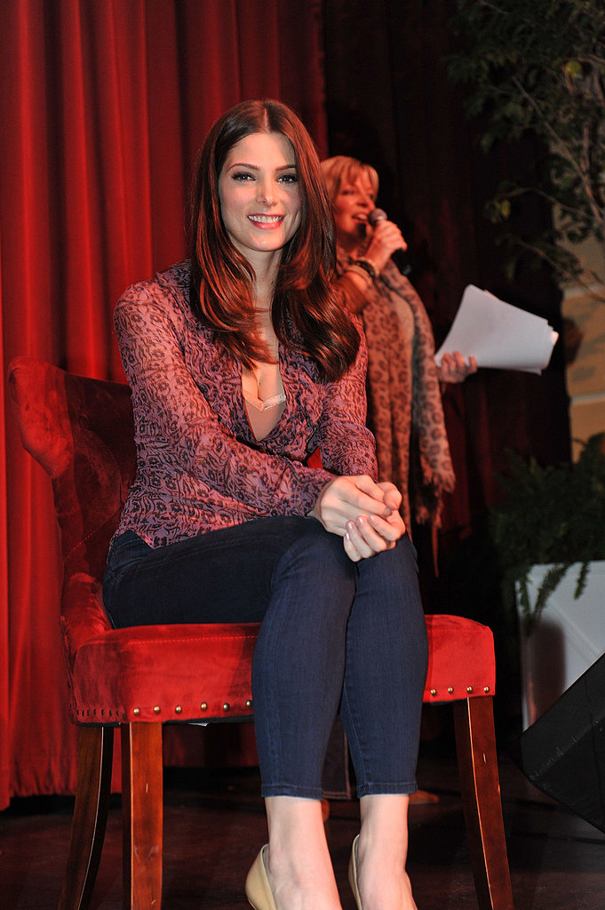Ashley Greene promoting Breaking Dawn Part 1.