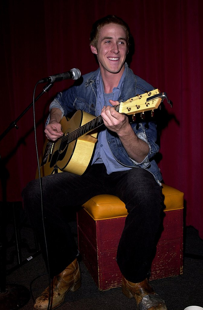 Ryan played a tune at an animal charity event in 2001.