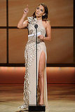 Jennifer Lopez gave thanks for her Woman of the Year award.