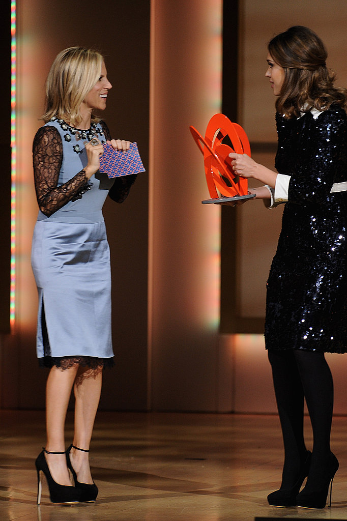 Jessica Alba presented Tory Burch with her Women of the Year Awards.