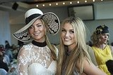 Jennifer Hawkins and Delta buddied up at a Flemington Spring Racing lunch in Sep. 2007.