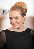 Sienna Miller showed of her chic chignon.