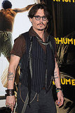 Johnny Depp at The Rum Diary premiere in Paris.