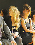 Blake Lively and Helena Christensen got cozy in the front row.