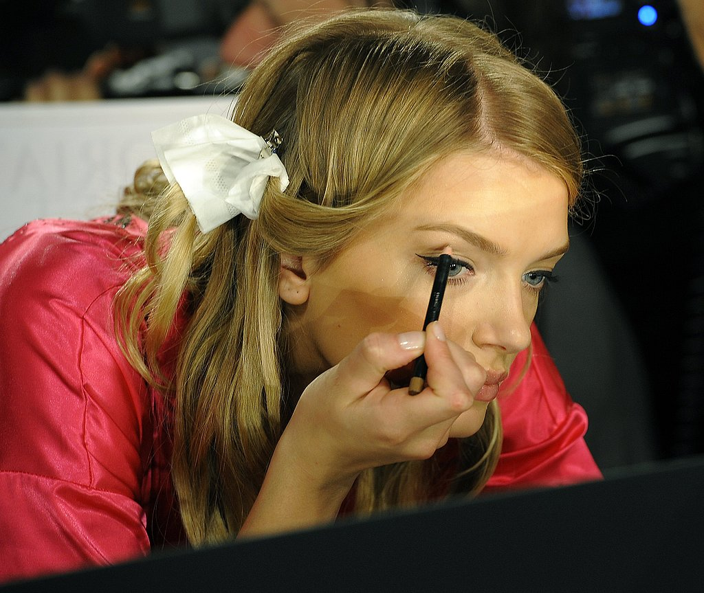 Lily Donaldson applied her own makeup.