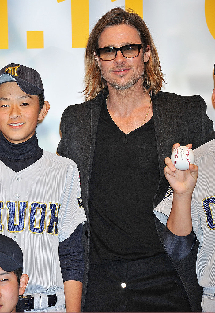 Brad Pitt made time for his baseball fans.