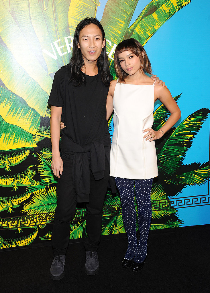 Alexander Wang and Zoe Kravtiz attended the Versace for H&M show together.