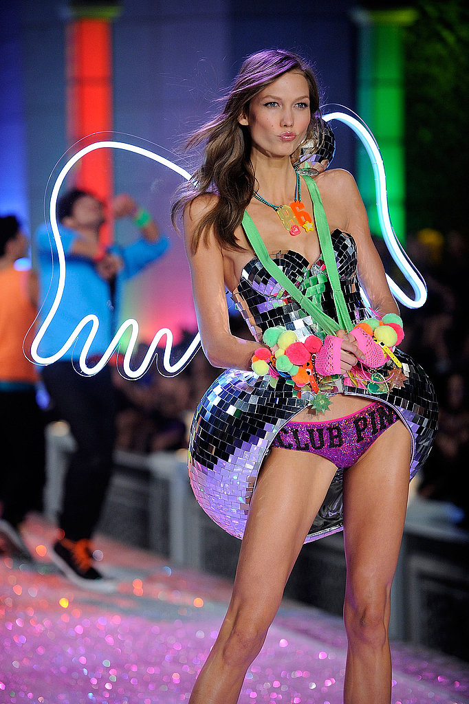 Karlie Kloss took a turn at the runway's end.