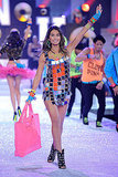 Lily Aldridge had fun dancing on stage at the 2011 Victoria's Secret Fashion Show.